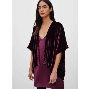Aritzia Talula Velvet Fawkner Kimono Cardigan Vest